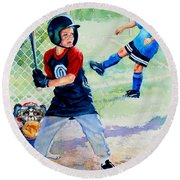 Slugger And Kicker Round Beach Towel