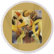 Small Composition 1913 Round Beach Towel