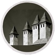 The Small Minarets Round Beach Towel