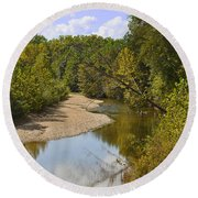 Small River 1 Round Beach Towel