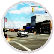 Small Town 3 Round Beach Towel