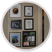 small Wall of Framed Round Beach Towel