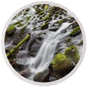 Small Waterfalls In Marlay Park Round Beach Towel