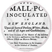 Smallpox: Title Page, 1726 Round Beach Towel