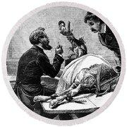 Smallpox Vaccine, 1883 Round Beach Towel