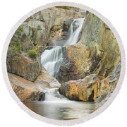 Smalls Falls In Western Maine Round Beach Towel