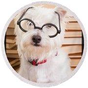Smart Doggie Round Beach Towel