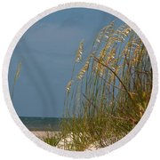 Smell The Salt Air Round Beach Towel