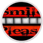 Smile Please Round Beach Towel