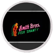 Smith Bros. Fish Shanty Round Beach Towel
