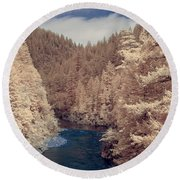 Smith River Forest Canyon Round Beach Towel