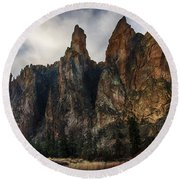 Smith Rock State Park 3 Round Beach Towel