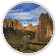 Smith Rock State Park - Oregon Round Beach Towel