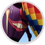 Smitten Hot Air Balloon Round Beach Towel
