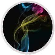 Smoke Abstract Round Beach Towel