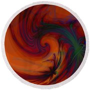 Smoke And Feathers Round Beach Towel