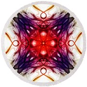 Smoke Art 91 Round Beach Towel