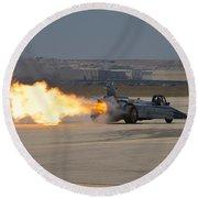 Smoke N Thunder Jet Car Round Beach Towel