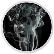 Smoke Skull Round Beach Towel