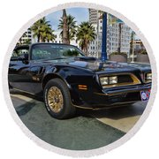 Smokey And The Bandit Round Beach Towel
