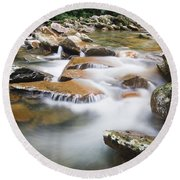 Smokey Mountain Creek Round Beach Towel