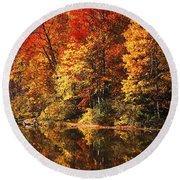 Smoky Mountain Colors - 234 Round Beach Towel