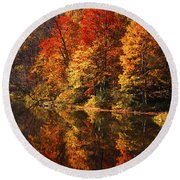 Smoky Mountain Colors - 235 Round Beach Towel
