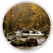 Smoky Mountain Gold II Round Beach Towel