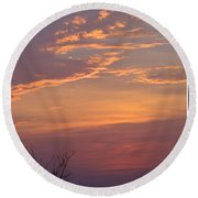 Smooth Sunset Round Beach Towel