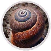 Snail Beauty Round Beach Towel