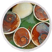 Snail Stones Round Beach Towel