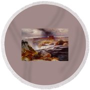 Snake River Idaho 1876 Round Beach Towel