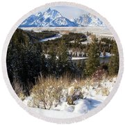 Snake River Overlook Round Beach Towel