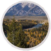 Snake River Overlook One Round Beach Towel