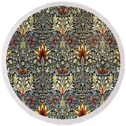 Snakeshead Round Beach Towel by William Morris