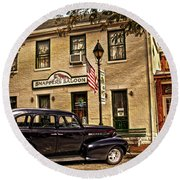 Snappers Saloon Ripley Ohio Round Beach Towel