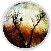 Sneakers In The Tree Round Beach Towel