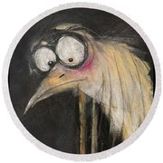 Snipe In The Moonlight Round Beach Towel