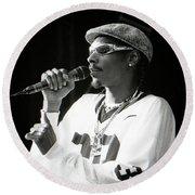Snoop-gp18 Round Beach Towel