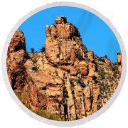 Snoopy Rock - Sabino Canyon Tucson Arizona  Round Beach Towel