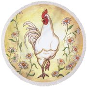 Snooty The Rooster Two Round Beach Towel