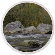 Snoqualmie River Round Beach Towel