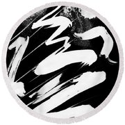 Snow-clad Mountain Inverted Round Beach Towel
