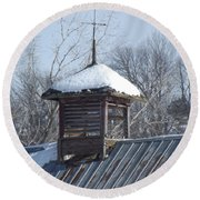 Snow Cupola Round Beach Towel