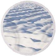 Snow  Round Beach Towel