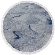 Snow Dunes Round Beach Towel