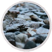 Snow Dusted Round Beach Towel
