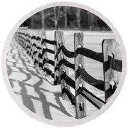 Snow Fence Round Beach Towel