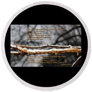Snow From Heaven Round Beach Towel