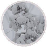 Snow Goon Round Beach Towel